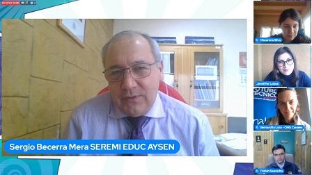 Captura de pantalla de la ceremonia de celebración de la Educación Técnica convocada por la red Futuro Técnico Aysén